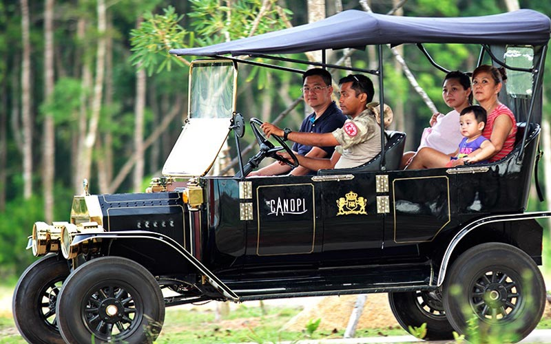 Classic Car Fun Ride at best resort in bintan
