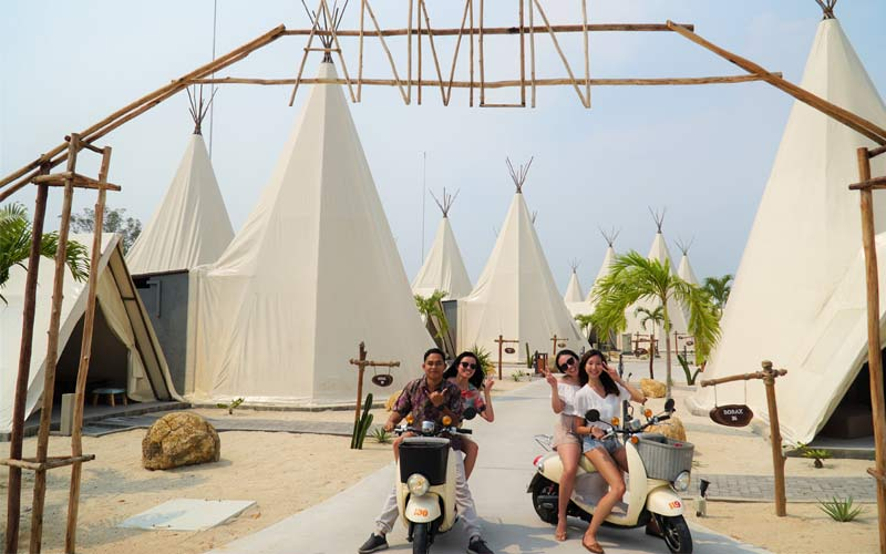 Electric Scooter di anmon glamping resort