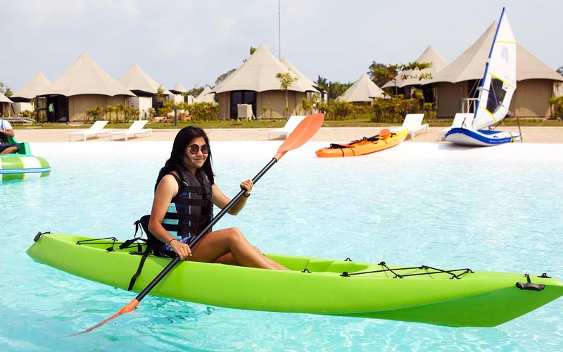 Inflatable Kayak at best resort in bintan