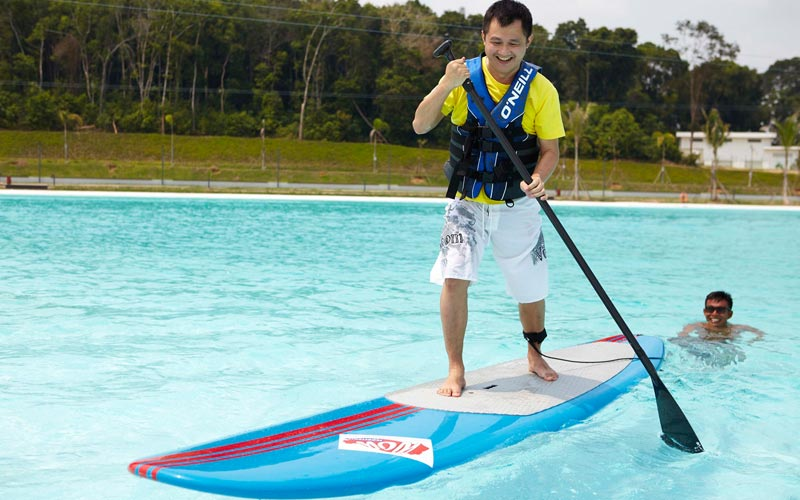 Stand-Up Paddle at best resort in Bintan