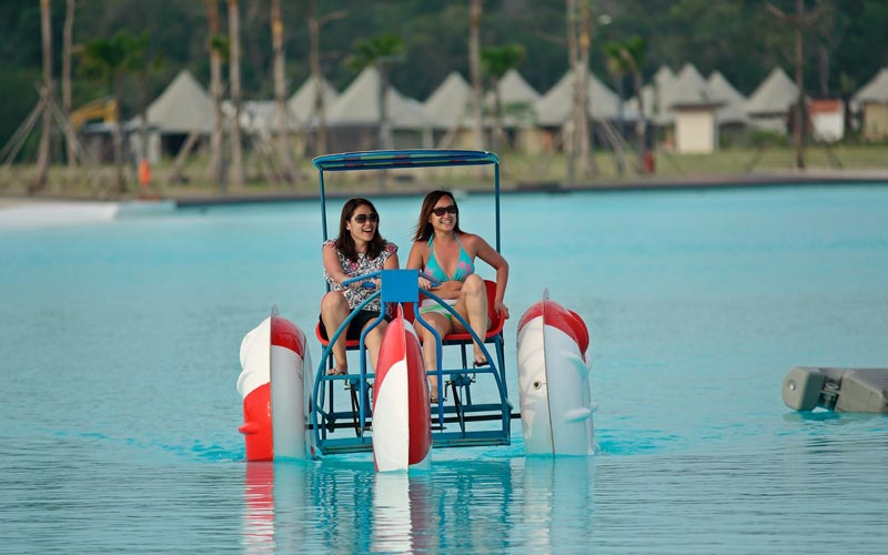 Water Tricycle at best resort in bintan