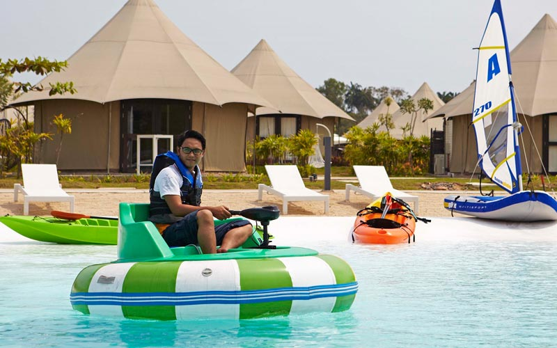 Bumper Boat at best resort in bintan